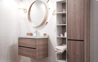 arredobagno SVAI_mobile bagno sospeso piccolo legno
