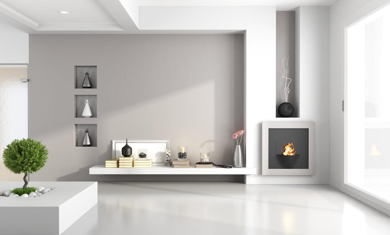 pavimenti e rivestimenti SVAI_resina casa moderna bianca