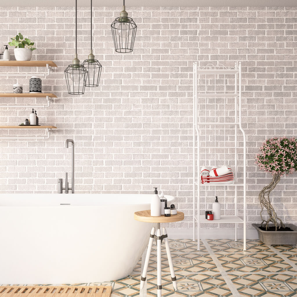 pavimenti e rivestimenti SVAI_rivestimento bagno design mattoni grigi