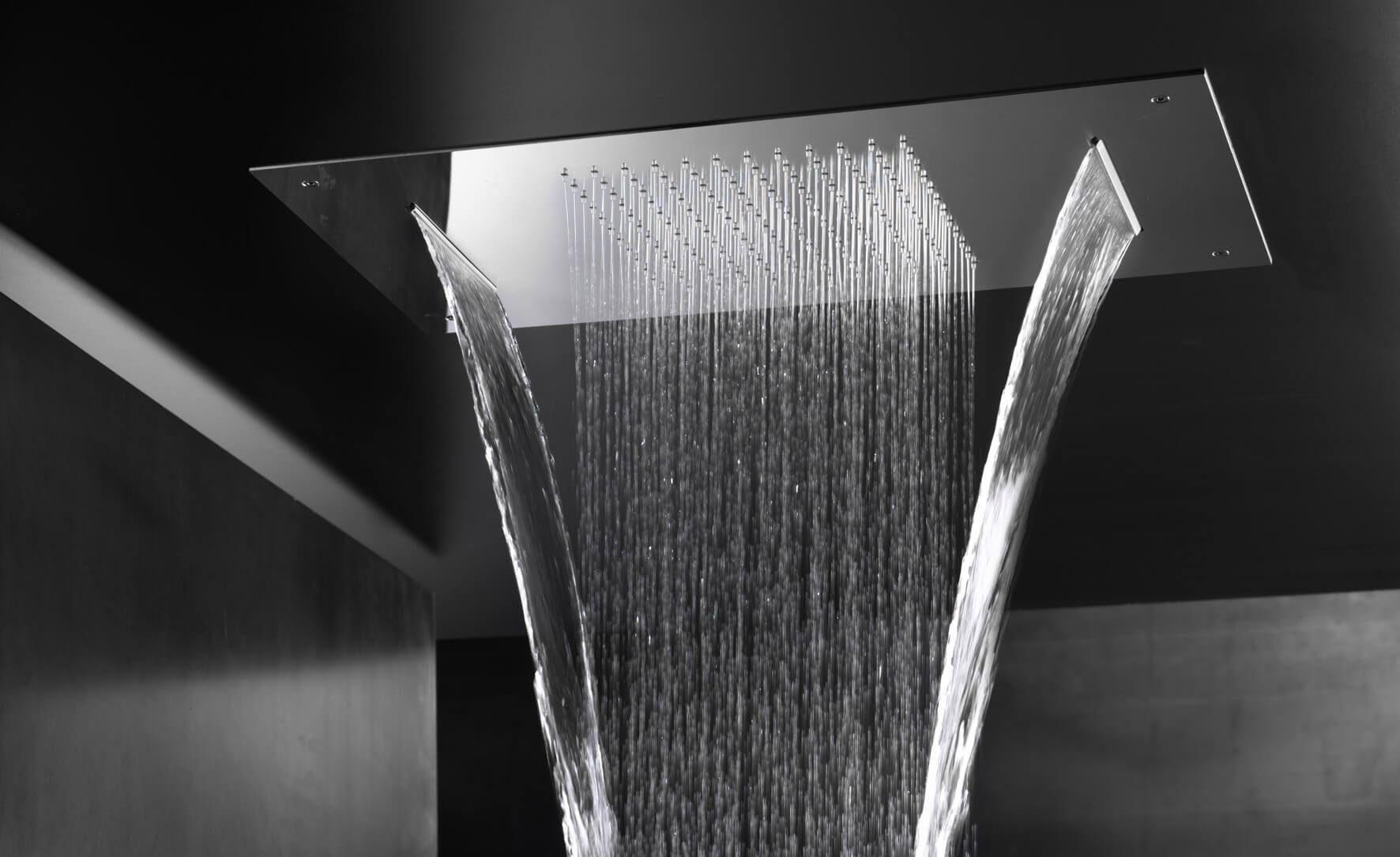 SVAI_soffione doccia a soffitto con cascate laterali