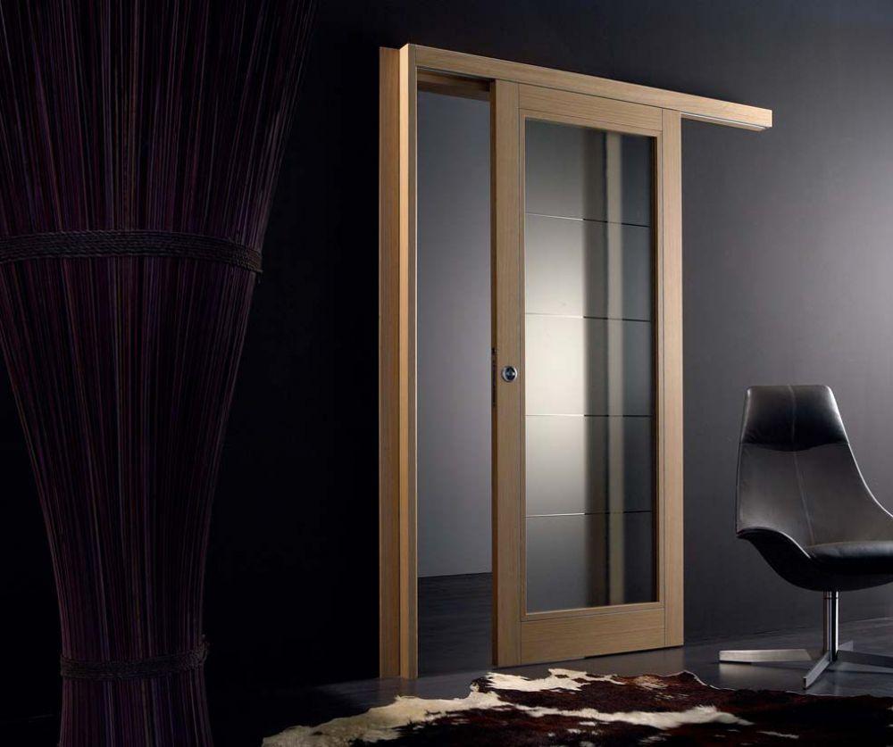 SVAI_porta scorrevole legno e vetro