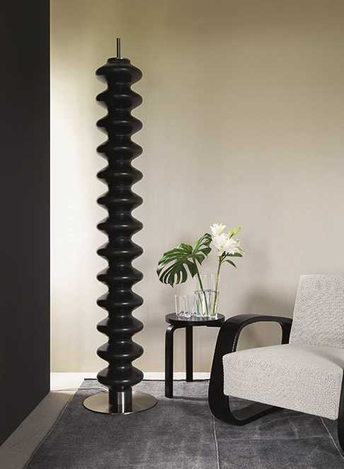 SVAI_termosifone radiatore moderno di design monocolonna da terra_acciaio nero