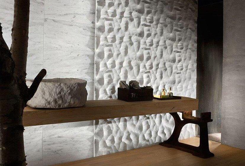 pavimenti e rivestimenti SVAI_marmo bianco effetto pietra