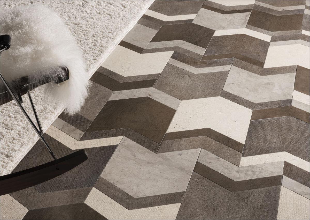 pavimenti e rivestimenti SVAI_marmo colorato posa geometrica