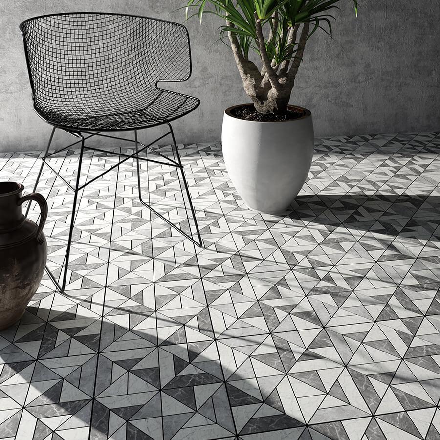pavimenti e rivestimenti SVAI_marmo grigio motivo geometrico