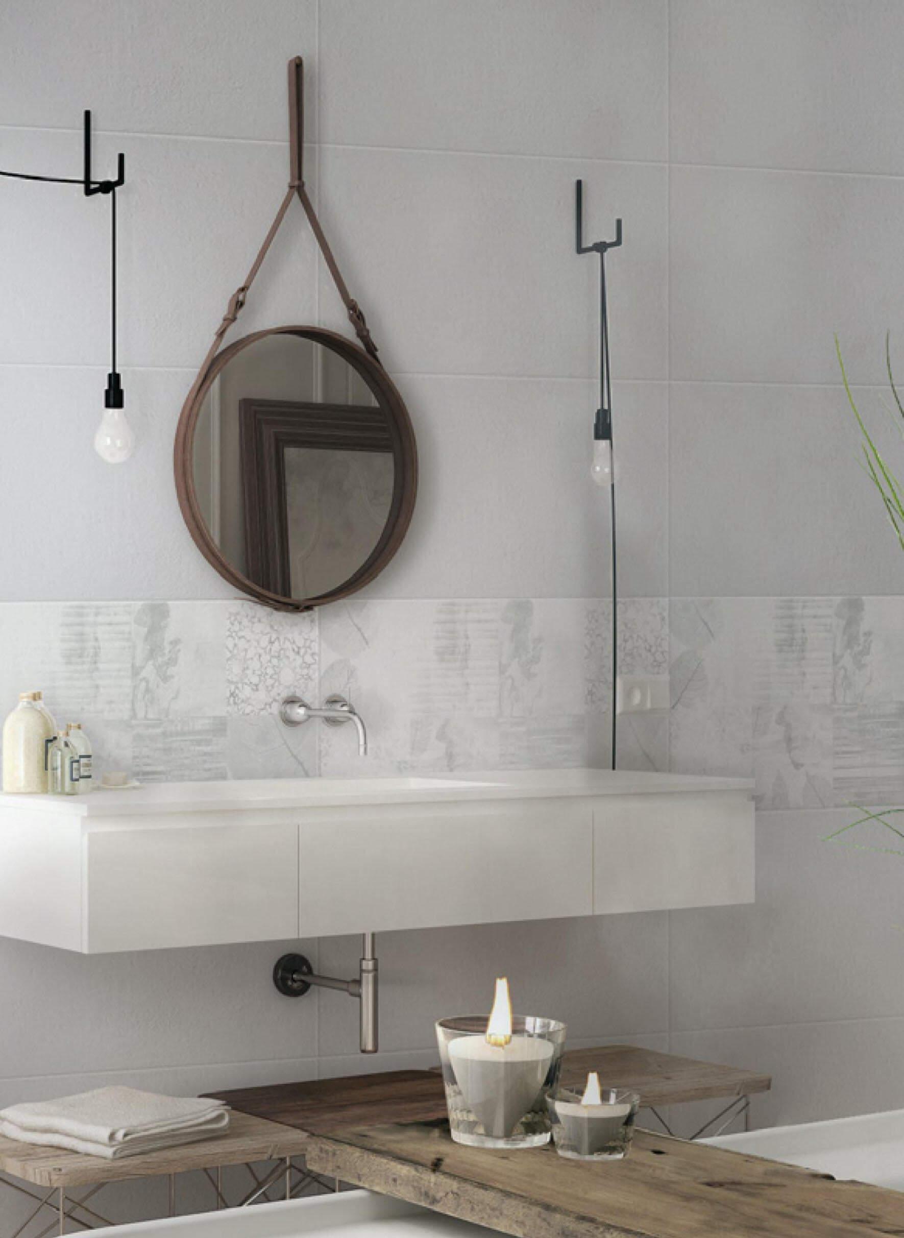 pavimenti e rivestimenti SVAI_rivestimento ceramica bianco bagno