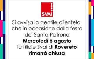 CHIUSURA SANTO PATRONO ROVERETO