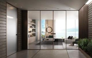 porte in vetro per interni